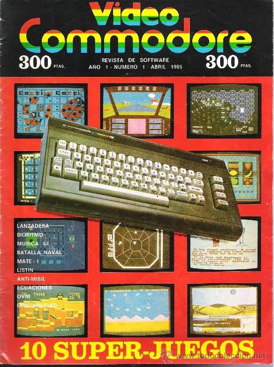 VIDEO COMMODORE + CASSETTE CON 10 SUPER JUEGOS (Juguetes - Videojuegos y Consolas - Commodore)