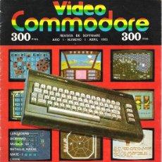Videojuegos y Consolas: VIDEO COMMODORE + CASSETTE CON 10 SUPER JUEGOS. Lote 34632737