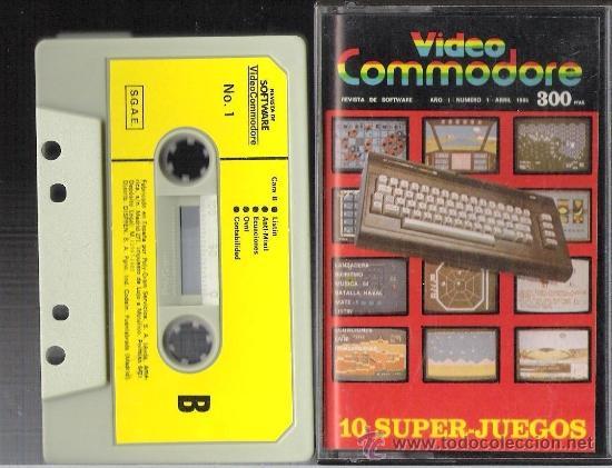 Videojuegos y Consolas: VIDEO COMMODORE + CASSETTE con 10 SUPER JUEGOS - Foto 2 - 34632737