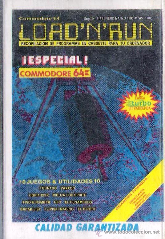 COMMODORE - LOAD N RUN - Nº 1-FEB 1985 / 10 JUEGOS+UTILIDADES (Juguetes - Videojuegos y Consolas - Commodore)