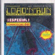 Videojuegos y Consolas: COMMODORE - LOAD N RUN - Nº 1-FEB 1985 / 10 JUEGOS+UTILIDADES. Lote 179138425