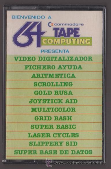 COMMODORE 64 TAPE COMPUTING Nº5. CON LAS APLICACIONES: VIDEO DIGITALIZADOR, FICHERO AYUDA, ARITMETIC (Juguetes - Videojuegos y Consolas - Commodore)