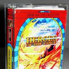 Videojuegos y Consolas: ADVANCED DUNGEONS & DRAGONS: HEROES OF THE LANCE [US GOLD] SSI (1988) [KIXX] [COMMODORE 64] [C64]. Lote 36375975