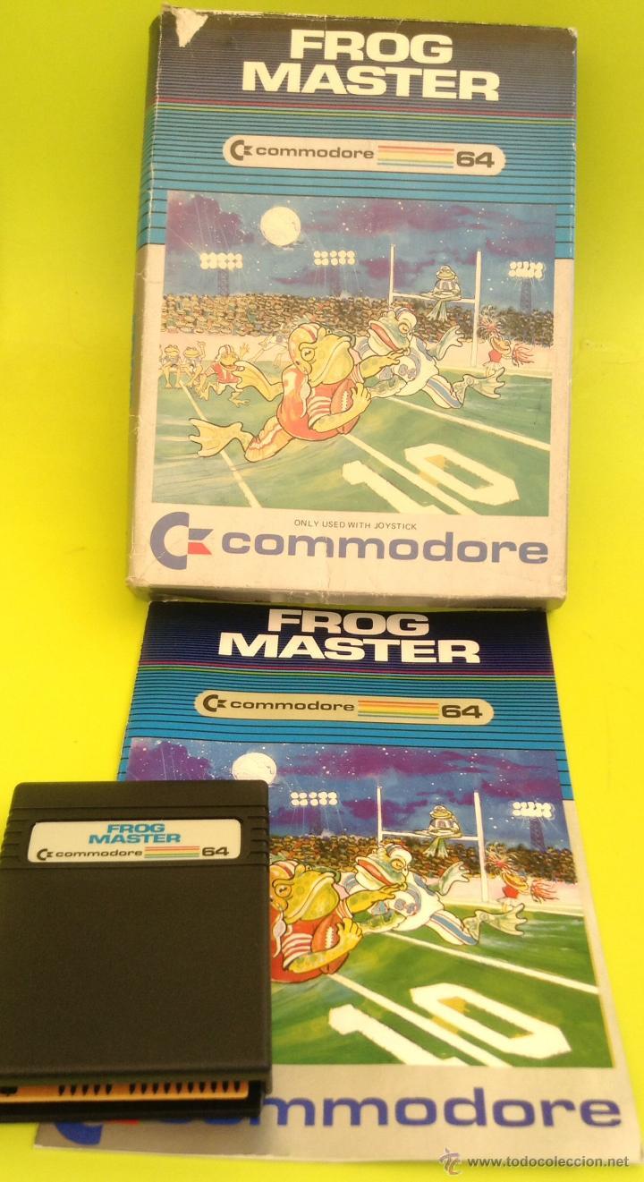 JUEGO DE ORDENADOR RETRO VINTAGE COMMODORE 64 CARTUCHO COMPLETO CAJA E INSTRUCCIONES FROG MASTER (Juguetes - Videojuegos y Consolas - Commodore)