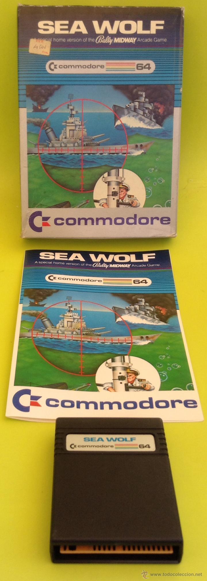 JUEGO DE ORDENADOR RETRO VINTAGE COMMODORE 64 CARTUCHO COMPLETO CAJA E INSTRUCCIONES SEA WOLF (Juguetes - Videojuegos y Consolas - Commodore)