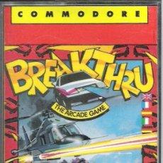 Videojuegos y Consolas: BREAKTHRU / COMMODORE 64. Lote 45698953