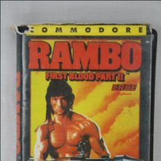 Videojuegos y Consolas: CINTA / JUEGO PARA COMMODORE - RAMBO. FIRST BLOOD PART II - OCEAN / ERBE . Lote 46041112