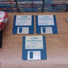 Videojuegos y Consolas: JUEGO PC COMMODORE AMIGA-DISCOVERY PACK-DISCO DE JUEGOS 1 Y 2+DISCO LENGUAJE-PAL. Lote 49910322