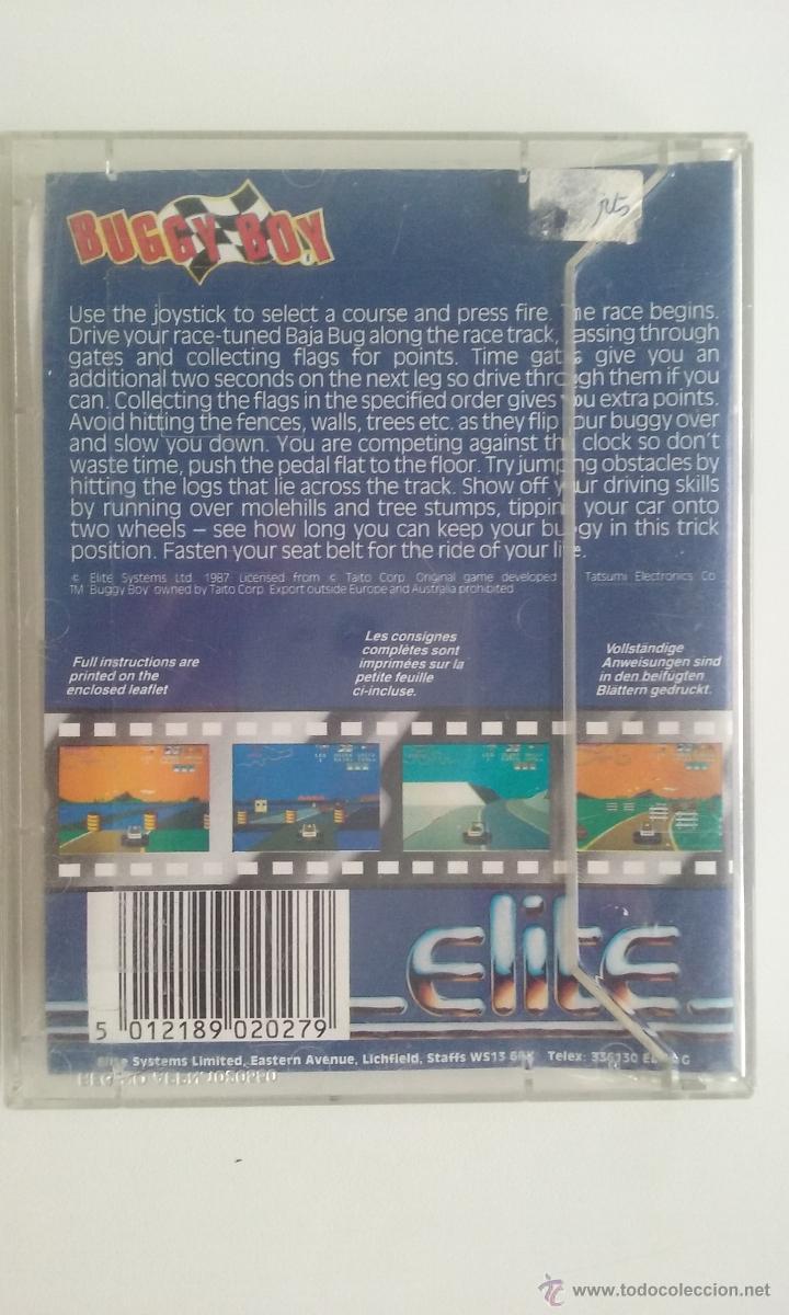 Videojuegos y Consolas: JUEGO COMMODORE 64/BUGGY BOY-ERBE SOFTWARE. - Foto 2 - 54606360