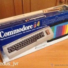 Videojuegos y Consolas: CAJA DE ORDENADOR COMMODORE 64 EMBALAJE ORIGINAL CONSOLA VINTAGE EN BUEN ESTADO. Lote 55144200