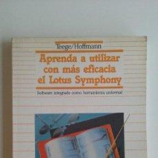 Videojuegos y Consolas: LIBRO/APRENDA EL LOTUS SYMPHONY/COMMODORE 64. -ATARI/SPECTRUM.. Lote 56330959