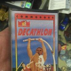 Videojuegos y Consolas: DECATHLON - VERSION DIFICIL - EN CAJA DE CASSETE PARA COMMODORE 64. Lote 56704699