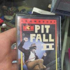 Videojuegos y Consolas: PIT FALL II - EN CAJA DE CASSETE PARA COMMODORE 64. Lote 56704773