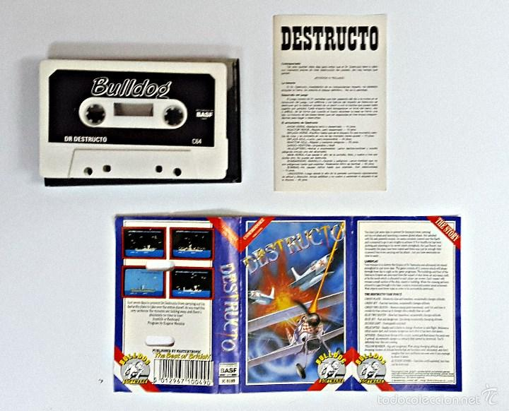 CASETE DE JUEGO COMMODORE DESTRUCTOR (Juguetes - Videojuegos y Consolas - Commodore)