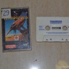 Videojuegos y Consolas: JUEGO CASETE CASSETTE COMMODORE TERRORPODS. Lote 61022767