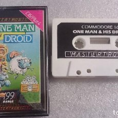 Videojuegos y Consolas: ONE MAN AND & HIS DROID CINTA CASSETTE JUEGO COMMODORE 16 C16 PLUS 4 PAL . Lote 68279133