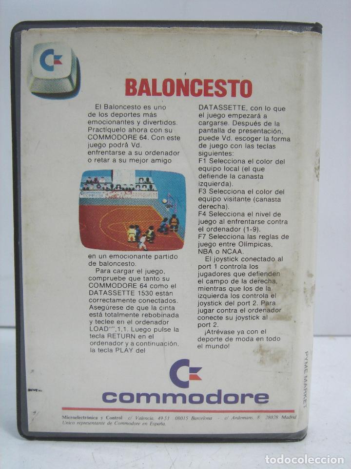 Videojuegos y Consolas: VIDEO JUEGO CASETE - COMMODORE 64 - BALONCESTO -CAJA ESTUCHE - C10 - Foto 2 - 71516259