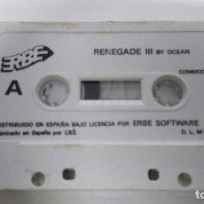 Videojuegos y Consolas: JUEGO EN CINTA DE COMMODORE 64 RENEGADE 3. Lote 73642107