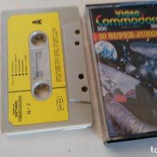 Videojuegos y Consolas: VIDEO COMMODORE - 10 SUPER JUEGOS. Lote 76262643