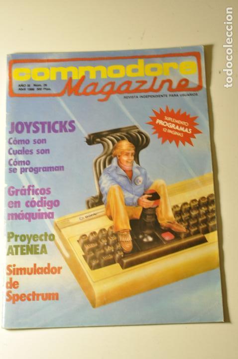 COMMODORE MAGAZINE - 26, 1986 - COMMODORE 64 (Juguetes - Videojuegos y Consolas - Commodore)