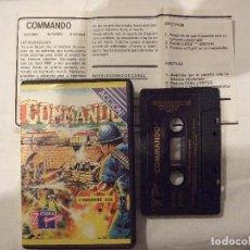 Videojuegos y Consolas: JUEGO COMMODORE 64K - COMMANDO - ZAFIRO , ELITE - 1985 61721053. Lote 77922021