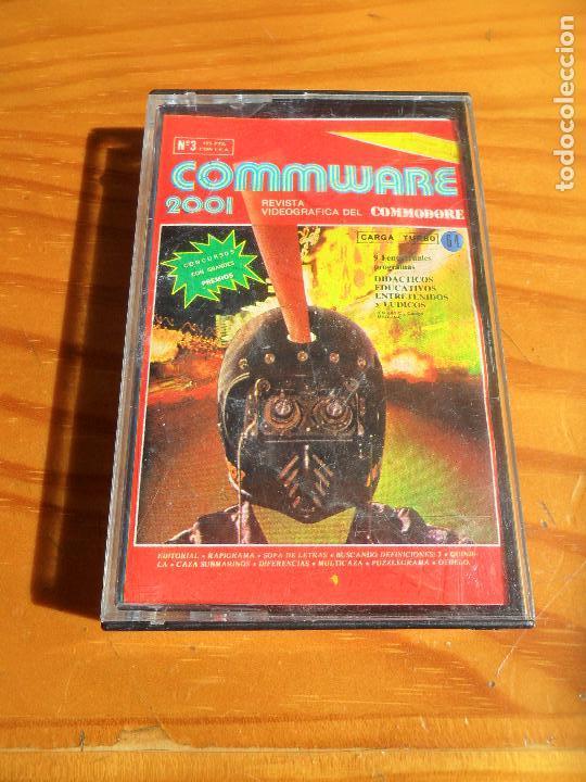COMMODORE COMMWARE 2001: RAPIGRAMA, CAZA SUBMARINOS, OTHELO, DIFERENCIAS, QUINIELA... (Juguetes - Videojuegos y Consolas - Commodore)