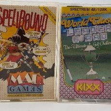 Videojuegos y Consolas: PACK 4:FRUIT MACHINE,SPELLBOUND,WORLD LEADERBOARD,EMPIRE SPECTRUM ZX 16K 48K 128K. Lote 87045544