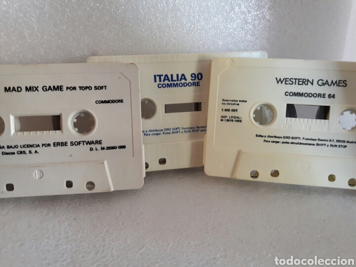 LOTE 3 JUEGOS COMMODORE SIN CAJA. ITALIA 90. WESTERN GAMES. MAD MIX GAME (Juguetes - Videojuegos y Consolas - Commodore)