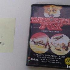 Videojuegos y Consolas: ANTIGUO JUEGO PARA COMMODORE DESERT FOX. Lote 97715599