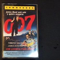 Videojuegos y Consolas: JUEGO PARA ORDENADOR COMMODORE 007 JAMES BOND LICENCIA PARA MATAR. Lote 98162519