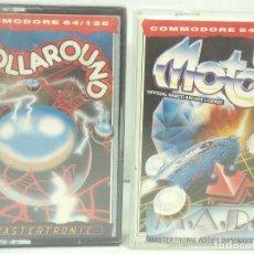 Videojuegos y Consolas: 2X VIDEO JUEGO- COMMODORE-ROLLAROUND-MOTOS-COMMODORE 64/128-MASTERTRONIC COMODORE JUEGO CASETE CINTA. Lote 99132059