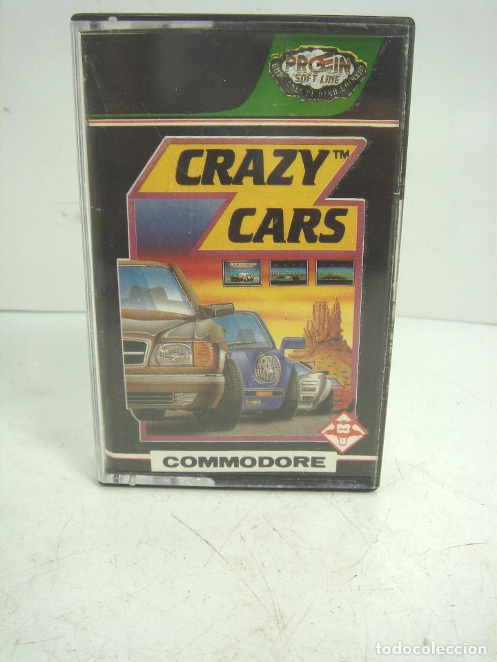 VIDEO JUEGO-COMMODORE -CRAZY CARS -PROEIN CASETE CINTA VIDEOJUEGO -COMODORE AND (Juguetes - Videojuegos y Consolas - Commodore)