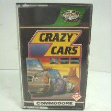 Videojuegos y Consolas: VIDEO JUEGO-COMMODORE -CRAZY CARS -PROEIN CASETE CINTA VIDEOJUEGO -COMODORE AND. Lote 101942335
