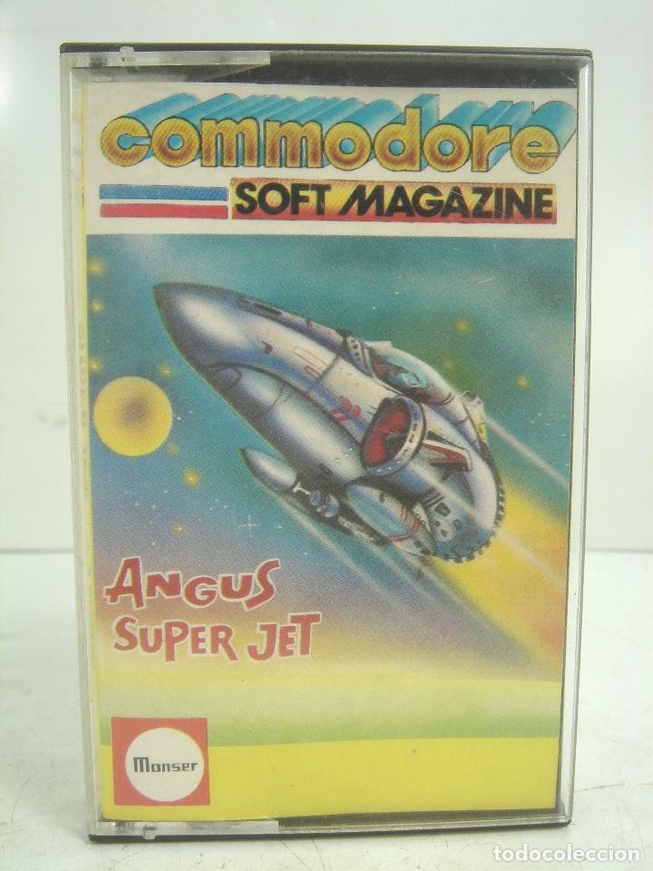 Videojuegos y Consolas: RARO VIDEO JUEGO-COMMODORE -ANGUS SUPER JET - MONSER CASETE CINTA VIDEOJUEGO -COMODORE - Foto 2 - 101942503