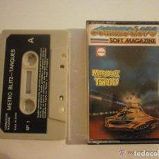 Videojuegos y Consolas: JUEGO METRO BLITZ-TANQUES AÑO 1985 COMMODORE 64 N1 JUEGO METRO BLITZ-TANQUES, AÑO 1985. EN BUEN. Lote 102716615