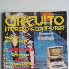 Videojuegos y Consolas: REVISTA CIRCUITO IMPRESO & COMPUTER/ZX81/SPECTRUM/VIC 20/TEXAS TI99/ATOM/AÑOS 80.. Lote 104016467
