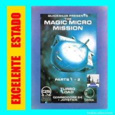 Videojuegos y Consolas: THE MAGIC MICRO MISSION PARTES 1 + 2 - QUICKSILVA MIND GAMES ESPAÑA - COMMODORE 64 - EXCELENTE. Lote 105031883
