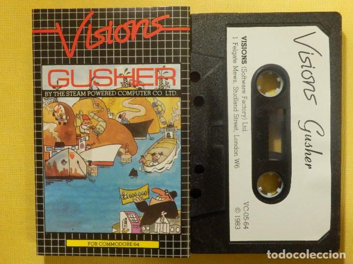 JUEGO PARA COMODORE 64 - CMB 64 - C64 - VIC-20 - GUSHER - VISIONS - 1983 (Juguetes - Videojuegos y Consolas - Commodore)