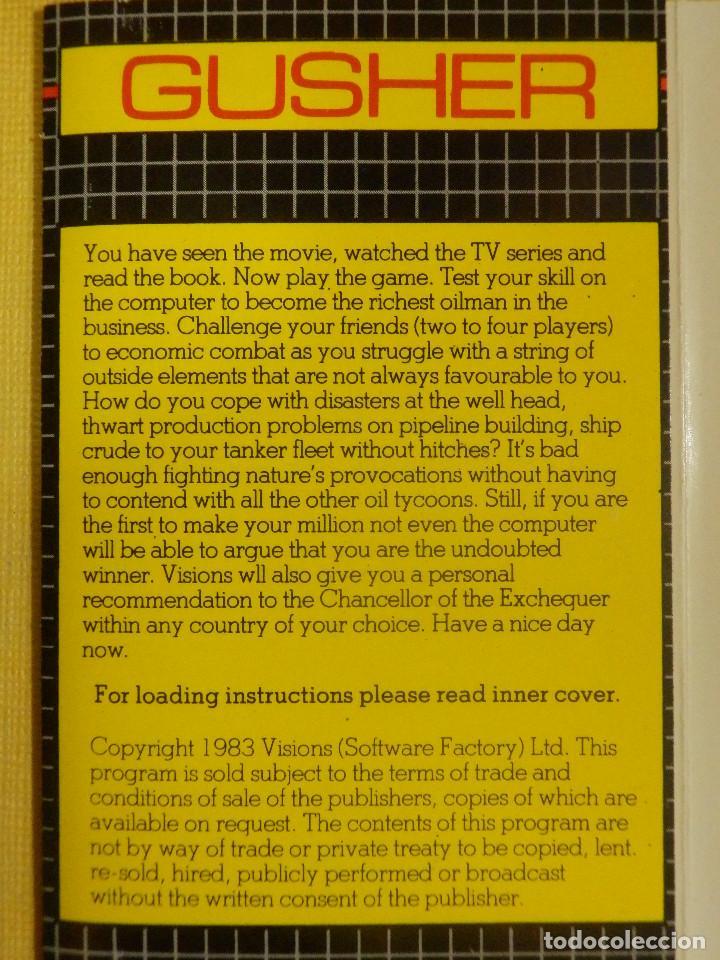 Videojuegos y Consolas: JUEGO PARA COMODORE 64 - CMB 64 - C64 - VIC-20 - GUSHER - VISIONS - 1983 - Foto 2 - 106853487