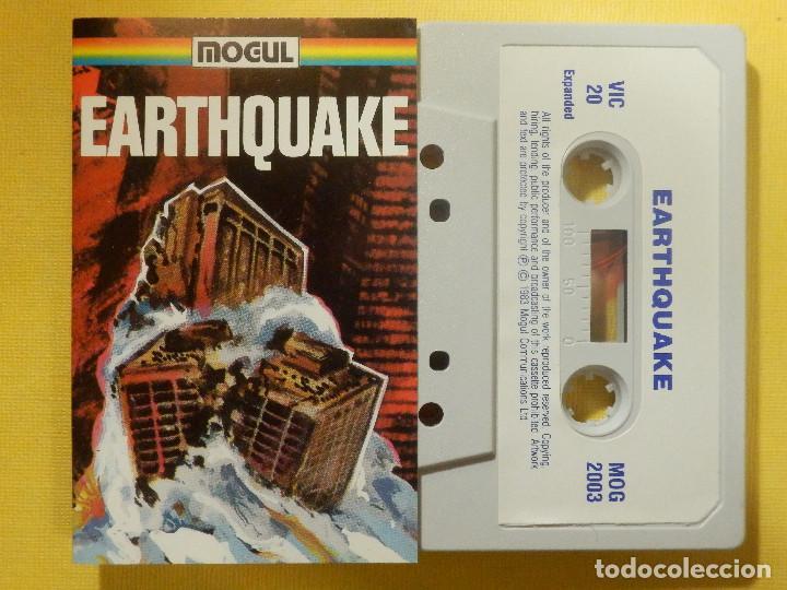 JUEGO PARA COMODORE 64 - CMB 64 - C64 - VIC-20 - EARTHQUAKE - MOGUL - 1983 (Juguetes - Videojuegos y Consolas - Commodore)