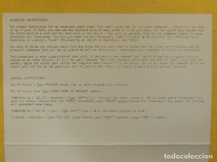 Videojuegos y Consolas: JUEGO PARA COMODORE 64 - CMB 64 - C64 - VIC-20 - EARTHQUAKE - MOGUL - 1983 - Foto 2 - 106854231