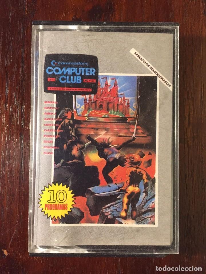 CINTA CASSETTE JUEGOS COMMODORE 64 - COMPUTER CLUB Nº 1- 10 JUEGOS Y PROGRAMAS - COLECCIONABLE 1985 (Juguetes - Videojuegos y Consolas - Commodore)