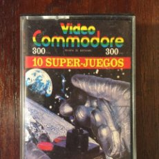 Videojuegos y Consolas: CINTA CASSETTE 10 SUPER JUEGOS COMMODORE 64 - VIDEO COMMODORE REVISTA DE SOFWARE Nº2 1985. Lote 110742175