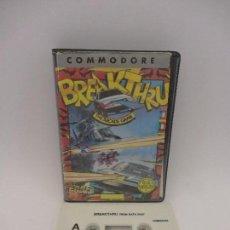 Videojuegos y Consolas: JUEGO COMMODORE BREAKTHRU-THE ARCADE GAME. Lote 115236691