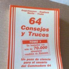 Jeux Vidéo et Consoles: COMMODORE 64, CONSEJOS Y TRUCOS - BARTEL (ED. FERRÉ MORET, DATA BECKER, AÑOS 80) . Lote 118890023