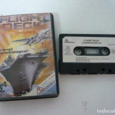 Videojuegos y Consolas: FLIGHT DECK / C64 / COMMODORE / CASSETTE / JUEGO RETRO VINTAGE EN CINTA. Lote 121141443