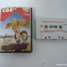 Videojuegos y Consolas: WAY OF THE EXPLODING FIST / C64 / COMMODORE / CASSETTE / JUEGO RETRO VINTAGE EN CINTA. Lote 121141483