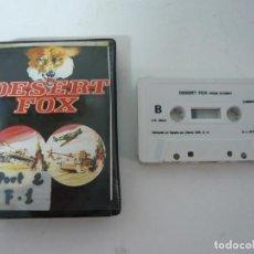 Videojuegos y Consolas: DESERT FOX / C64 / COMMODORE / CASSETTE / JUEGO RETRO VINTAGE EN CINTA. Lote 121141527