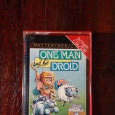 Videojuegos y Consolas: ONE MAN AND & HIS DROID CINTA CASSETTE JUEGO COMMODORE 64 - MASTERTRONIC 1985. Lote 123383999