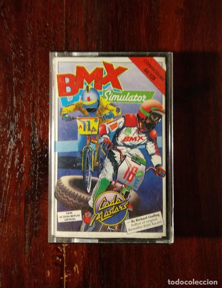 BMX SIMULATOR CINTA CASSETTE JUEGO COMMODORE 64 - CODE MASTER 1986 (Juguetes - Videojuegos y Consolas - Commodore)